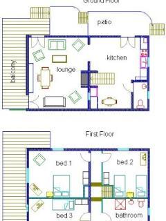 Floor plan of gites