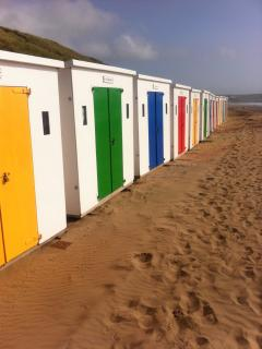 Woolie's famous beach huts...