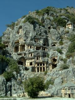The famous Lycian tombs at Myra - only a 10min drive away