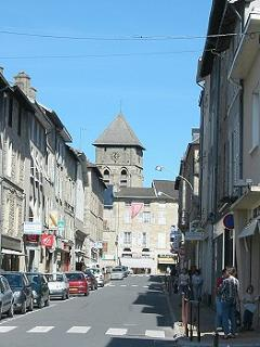 The main street in Eymoutiers - Avenue de la Paix