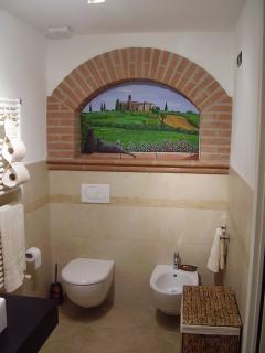 Il bagno privato della SUITE ERICA