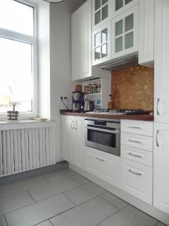 New kitchen from 2011 with AEG gas cooker and combi oven