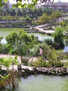 Parque de la Paloma has beautiful walkways. Animals wander freely around such as rabbits & peaco