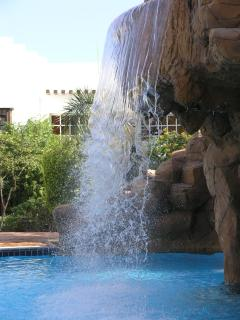 There are many pretty water features around the resort
