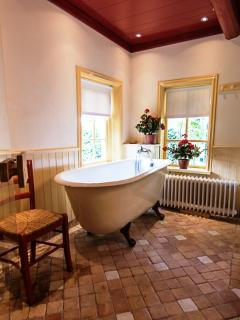 Bathroom with antique bathing tub Lutje Hoeske