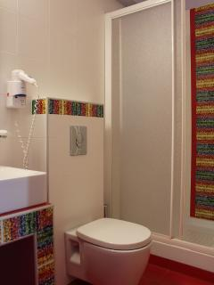 Bathrooms are luxurious and modern at Amaryllis Tolo