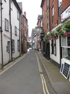 Ludlow has many narrow streets full of character