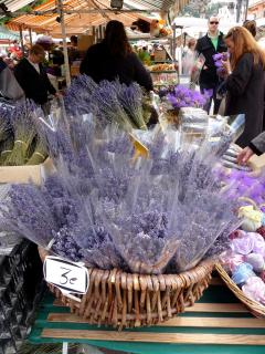 Old Town Nice market - fresh lavender and spices, flowers and local food specialties