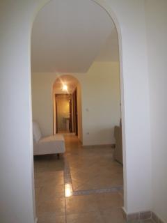 Hallway inside the apartment.