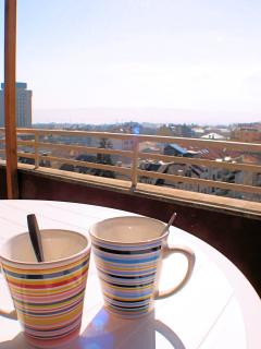 Tea or Coffee time with unforgettable view over the city