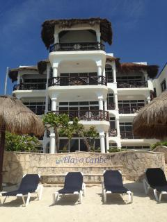 Playa Caribe from the beach; #4 is second floor right