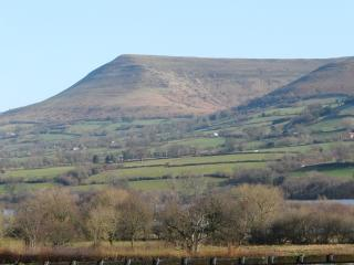 A view of the Black Mountains from an upstairs window