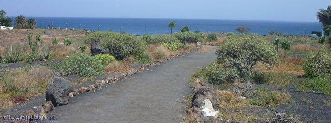 Lots of safe pretty paths in Costa Teguise to walk