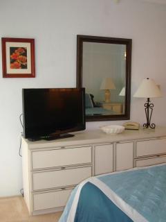 Bedroom dresser with 32 inch TV