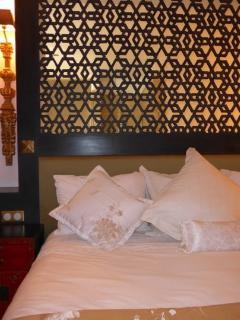 détail tête de lit fabrication artisanale