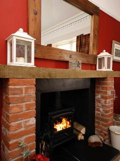 Get cosy with the wood burning stove