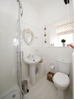 Rosie shower room, wc and sink