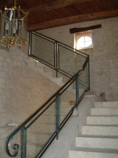 A wide stone staircase fit for a Manoir - from cellars to attic.  A special feature in the Manoir!