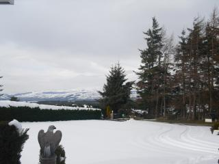view from front of house in winter