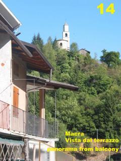 panorama di Borgata Villar e della Chiesa dal nostro chalet