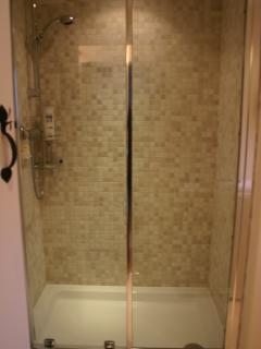 Large shower at the Dairy.