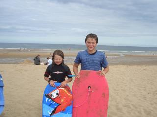 Trow beach South Shields with Surf school