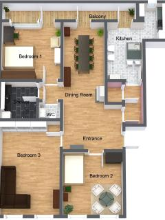 3D picture of the apartment