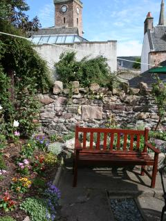 Back garden with Old High Church in background
