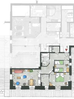 Apartment 1 - Floorplan