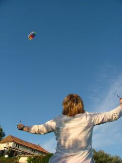 Kite flying in the play area