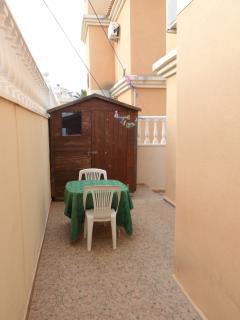 shed behind villa