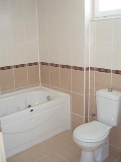 Main Bathroom with Jacuzzi bath and shower