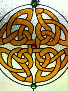 Celtic window in the cottage