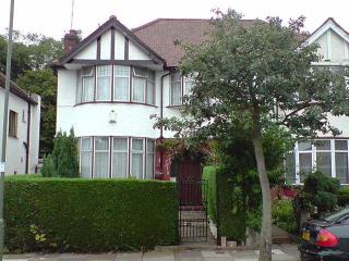 Traditional classic suburban London house.