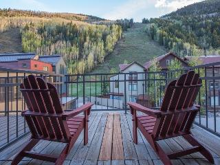 Slopeside views off the front porch. Ski in/out, private hot tub - Cimarron Peaks, Telluride