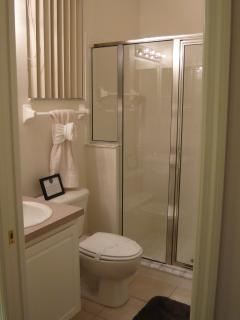 Second master ensuite with shower, toilet and wash basin
