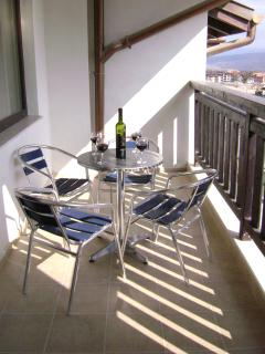 Relax and enjoy a drink or a meal on our sunny balcony and take in the wonderful views.