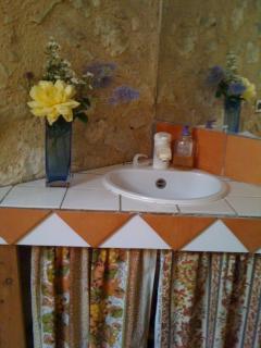 the bathroom ...