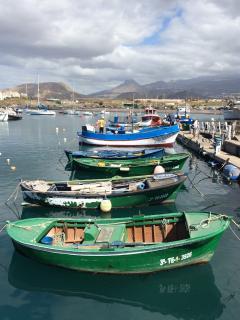 Detalle barco de pescadores