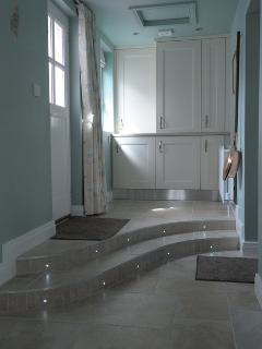Entrance and laundry area