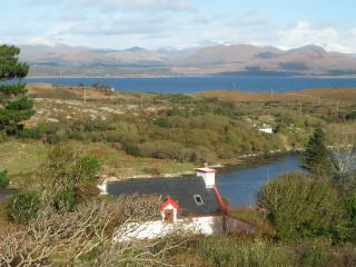 Cottage by the sea, over harbour and Kenmare Bay