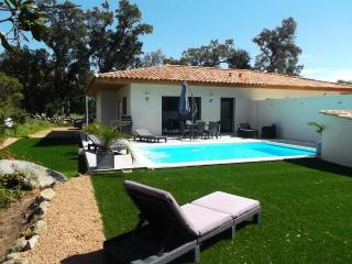 Porto Vecchio villa heated pool near beach.