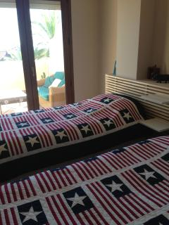 First floor double bedroom with single beds