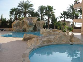 The 2 pools and  jacuzzi