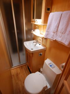all cabins have ensuite with shower, WC and basin.