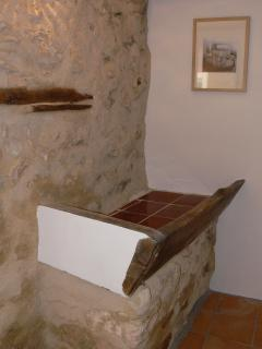 The old manger in the downstairs entrance hall