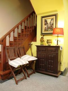 escadaria acesso aos quartos
