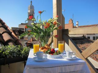 A summer breakfast overlooking the rooftops and spires of Venice!