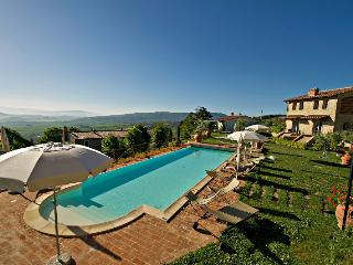 Ulivo House with garden and pool and amazing view, Chianni