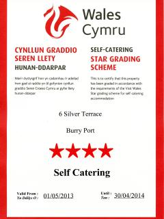 Visit Wales 2013-2014   4* Certificate